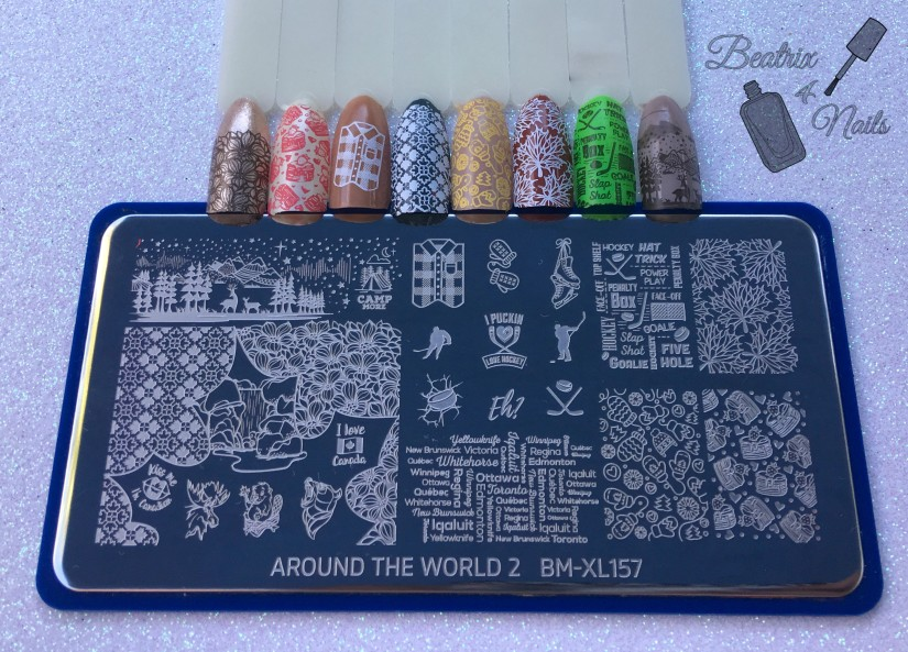 1pc XL Nail Plate Around the World 2 - CAN We Get Cozy (BM-XL157)